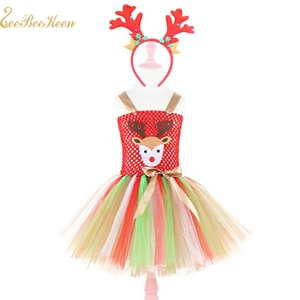 Children Halloween Party Cosplay Costume Cute Baby Deer Cosplay Tutu Dress Girls Christmas Costume Kids Stage Show Dance Dress