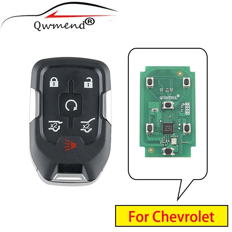 QWMEND HYQ1AA 6 Botões Inteligente Chave Do Carro para GMC Yukon XL Terreno para Chevrolet Suburban Tahoe 2015-2019 chave Remota do carro
