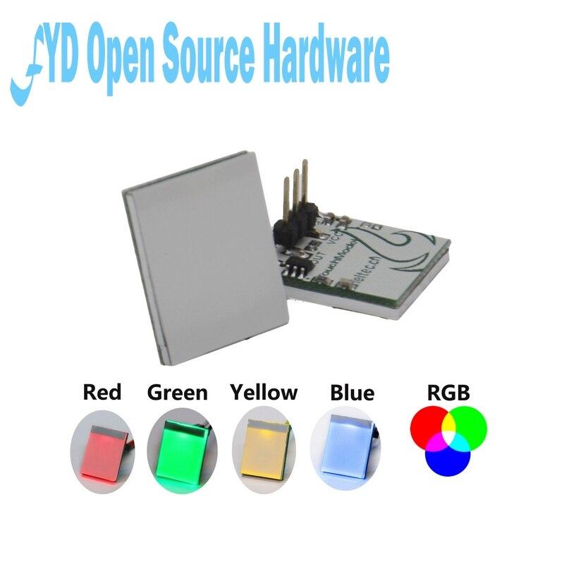 Interruptor táctil capacitivo Módulo Sensor LED Botón HTTM verde azul rojo amarillo RGB pantalla multicolor DIY electrónica