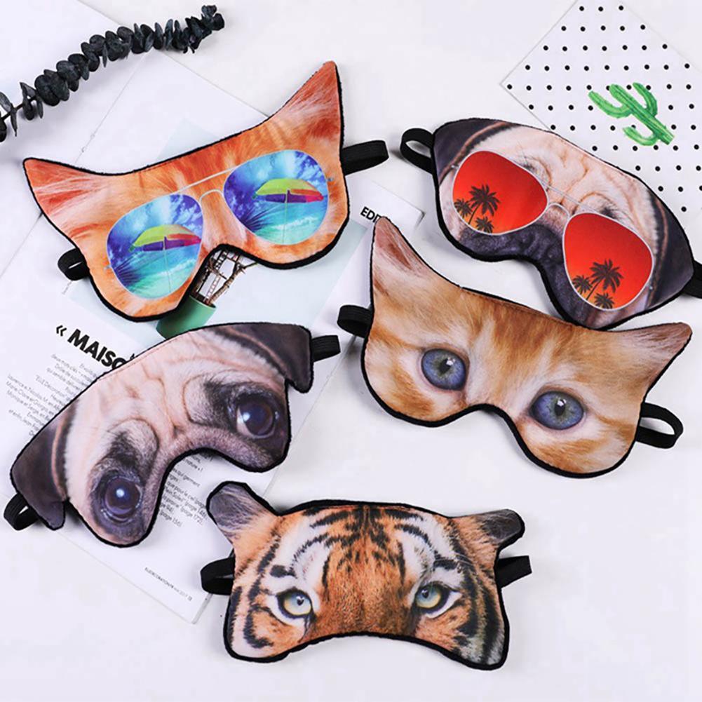 Joylife Travel Office Sleep Eye Mask Patch Funny 3D Tiger Fox Dog Cat Animal Blindfold Visor Cover Eyeshade For Relax Party