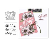 forever always metal cutting dies and stamps stencils for making scrapbooking diy album paper cards embossing dies cut 2021