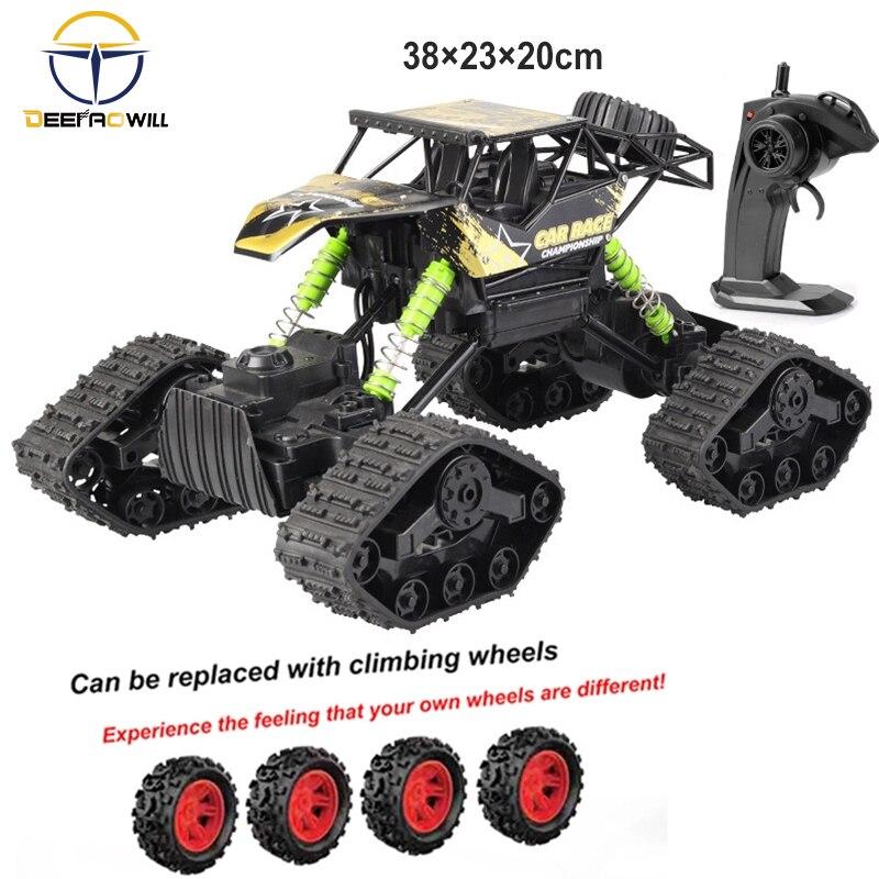 2020 4WD Rc coche todoterreno escalada teledirigido coche 2,4Hz radiocontrolado coche rastreado Rc coche niño juguete alta velocidad coche de escalada