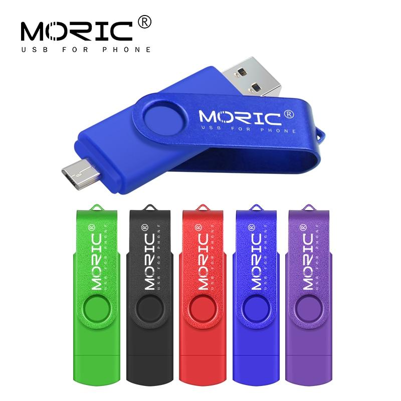 Pendrive de metal para teléfono inteligente, unidad flash USB OTG, micro usb...