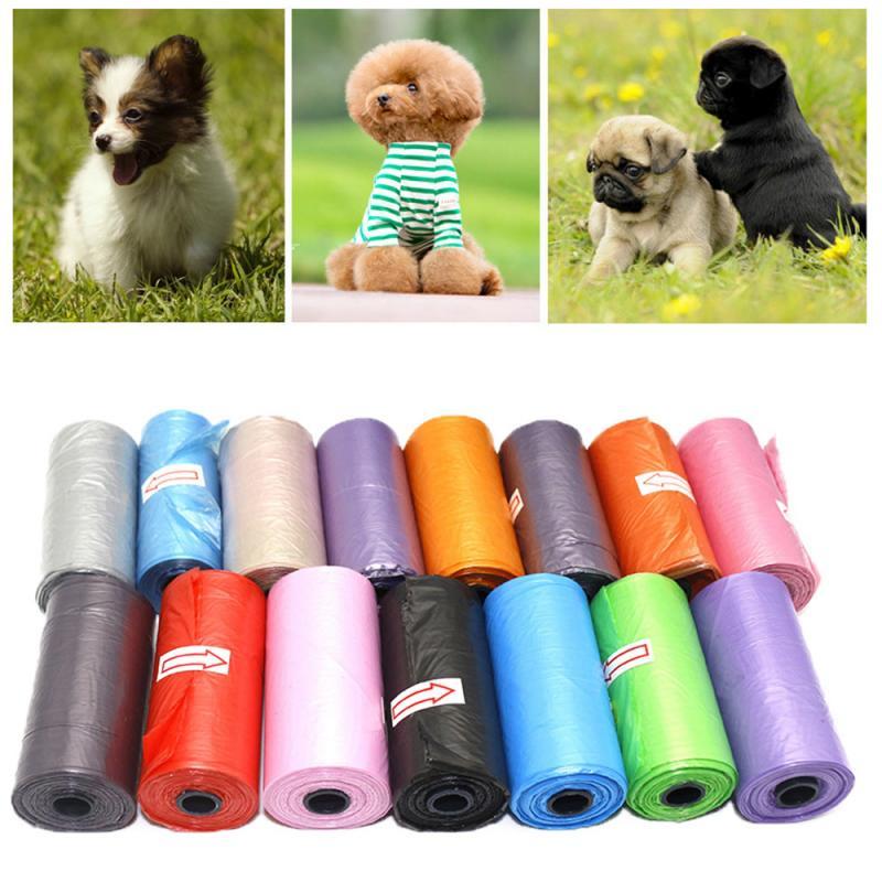 Gran oferta Biodegradable caca de perro bolsa Gato los desechos limpia recoger basura bolso respetuoso del medio ambiente portátil para mascotas basura bolsa para mascota