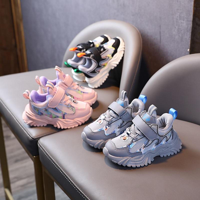 Children Sports Shoes Boys Girls Casual Mesh Sneakers Toddler Kids Soft Sole Breathable Running Shoe