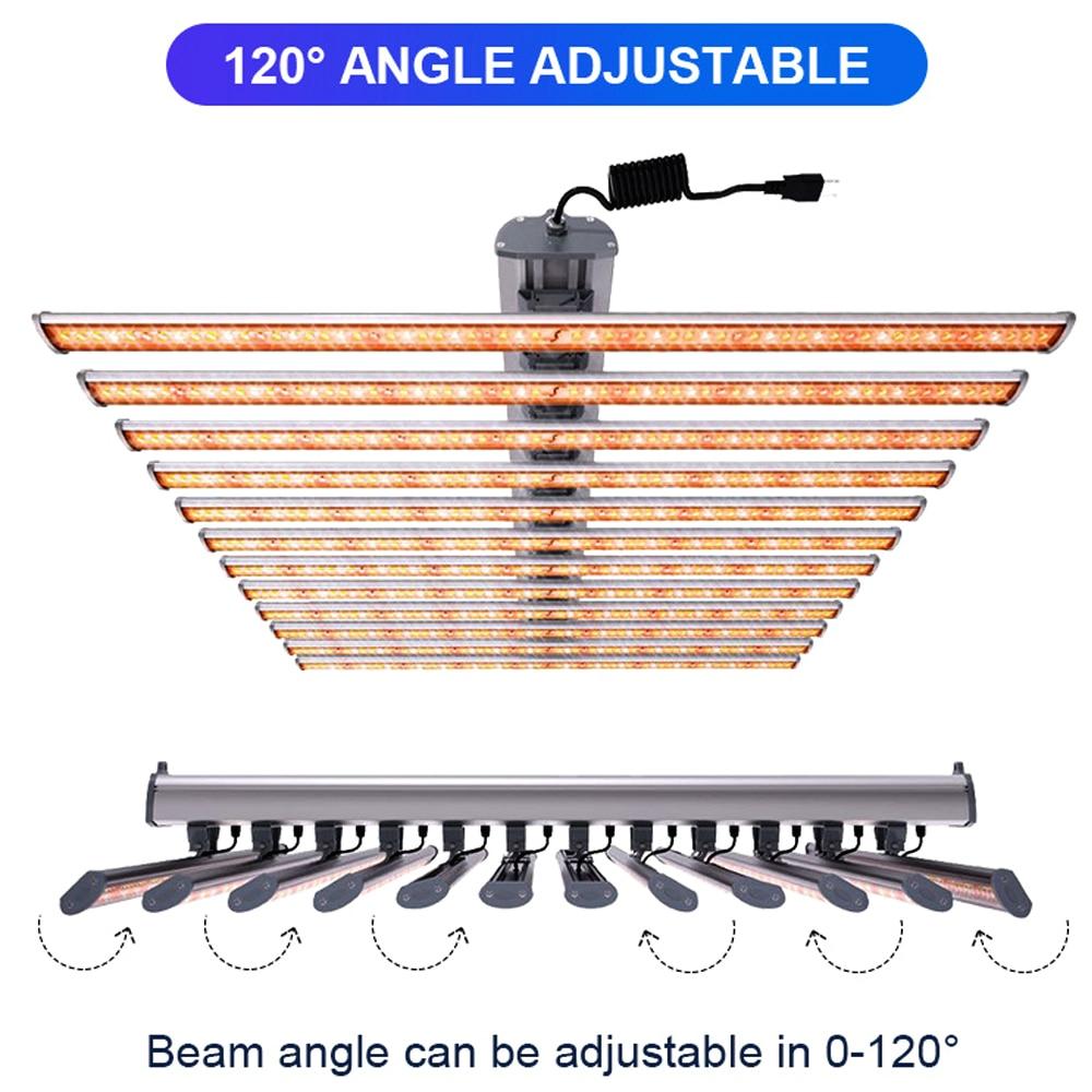 LED Full Spectrum 720W Grow Light 12Bars Superbright 3000K 6000K For Greenhouse Plants Growing Increase Yield, CE ETL Certified enlarge