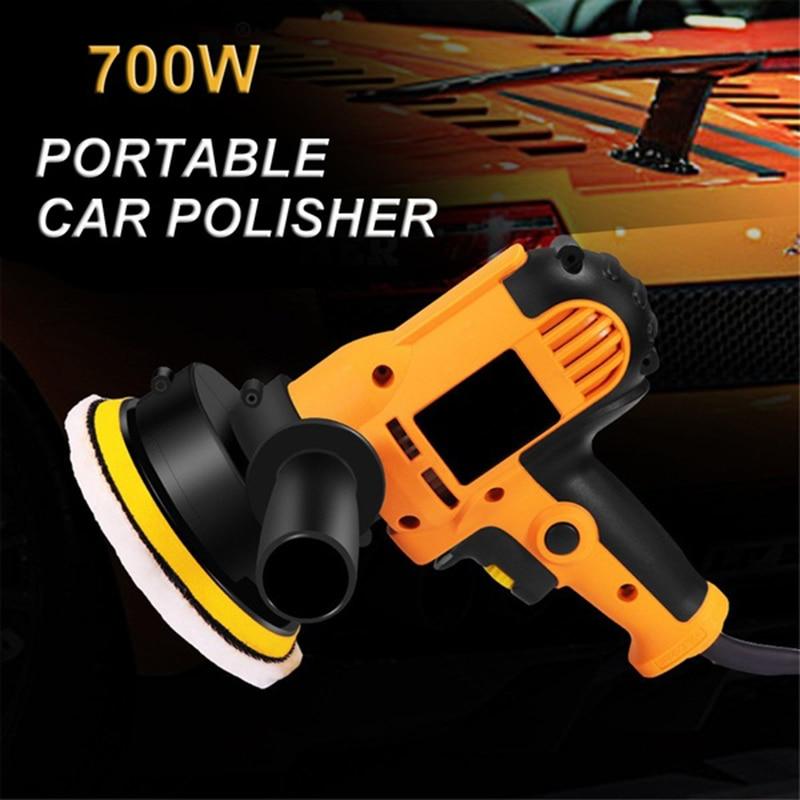700W Grinder Electric Auto Mini Polishing Machine Car Polisher Orbit Sanding Machine Adjustable Speed Waxing Power Tools