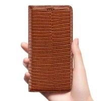 lizard grain genuine leather flip case for oppo a5 a5s ax5s a31 a9 2020 a31 a71 a91 a52 a72 a92 a92s cell phone cover cases