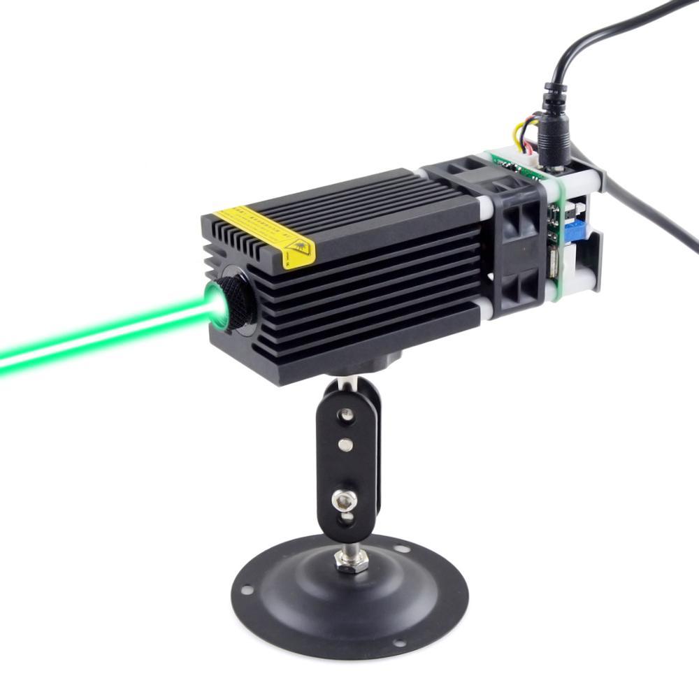 CWLASER 100mW 1000mW 520nm módulo láser verde para DIY grabado láser cabezal láser con 12V y Control PWM (negro)