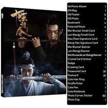Chen Qing Ling Wei Wuxian Lan Wangji Paio di Album di Foto Set Sacchetto Del Regalo Foto Carta Il Selvaggia Photobook Poster Ventole collezione