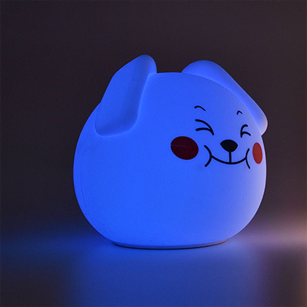 7 Colors Multifunction USB Rechargeable RGBW LED Night Lamp Battery Powered Silicone Night Lights For Children Baby Kids Bedroom enlarge