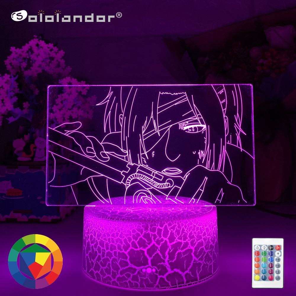 Newest Anime 3d Lamp Attack on Titan Hange Zoe Light for Bedroom Decoration Kids Gift Attack on Titan LED Night Light Hange Zoe