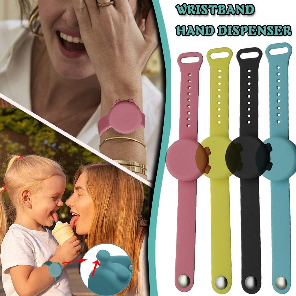 4pc adulto crianças desinfetante desinfetante dispensador pulseira bombas de mão dispensador handwash silicone wearable pulseira de pulso banda