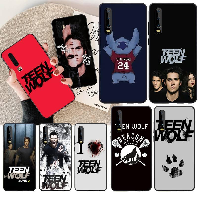 NBDRUICAI película americana Teen Wolf suave negro Funda del teléfono carcasa Capa para Huawei Honor 20 10 9 8 8x 8c 9x 7c 7a Lite ver