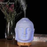 Thank share     diffuseur dhuile essentielle pour maison  humidificateur tete de bouddha  lampe de nuit  brumisateur daromatherapie
