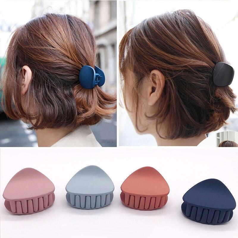 Pinza para el pelo de Color sólido para niña y mujer, pasador con pinza para el pelo, pasador Retro, accesorios para el cabello