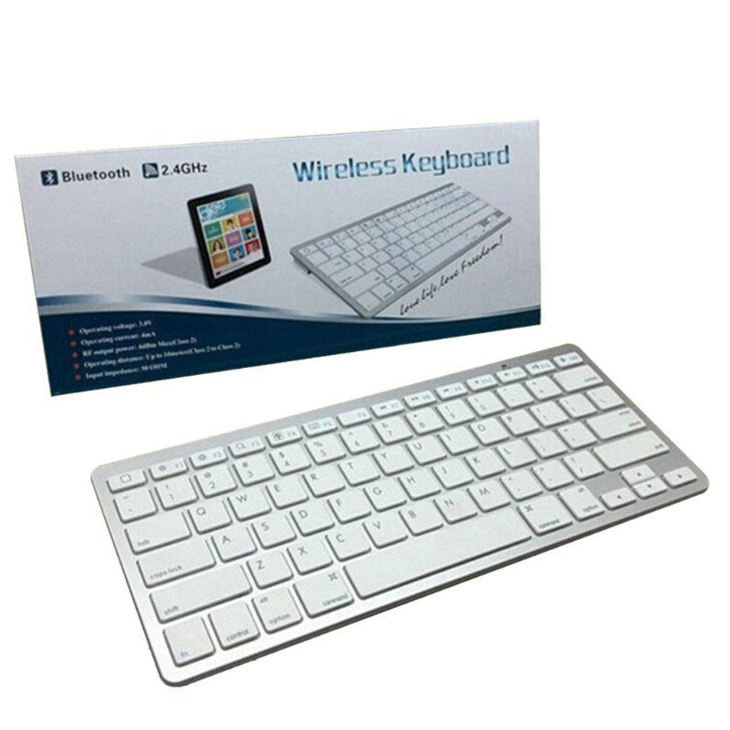 Universal Ultra Dünne Drahtlose Bluetooth Stille Dünne Mini Tastatur für PC Laptop Notebooks Aluminium Legierung