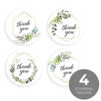 Thank You Stickers Seal Labels Stationery Sticker Gift Box Home Decoration Accessories 6
