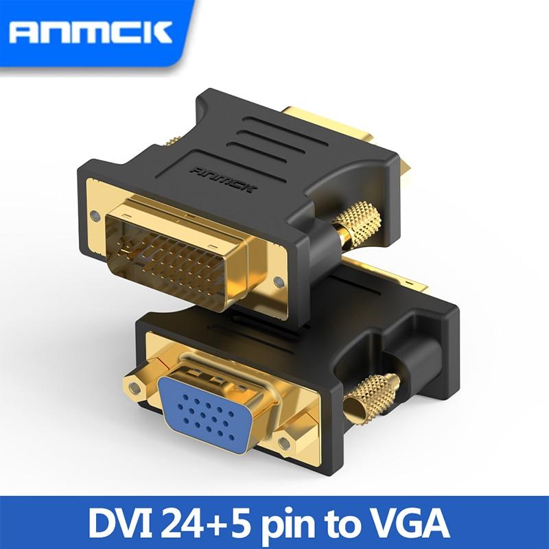 Anmck-convertidor DVI macho de Adaptador DVI a VGA para pantalla de ordenador,...