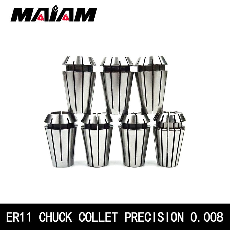 Hohe-qualität 0,008 ER11 chuck ER11 collet 1mm 2mm 4mm 5mm 6mm 8mm 1/4 ER spannfutter für CNC Gravur Maschine Drehmaschine Mühle Werkzeug halter