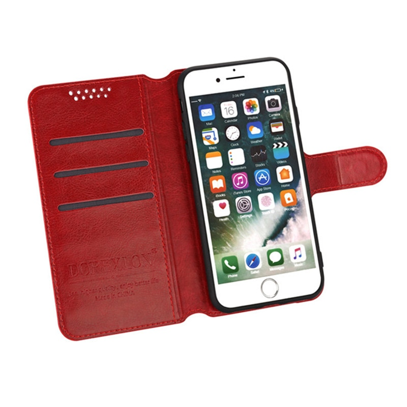 Originele Flip Lederen Telefoon Geval Voor Alcatel Shine Lite 5080X 5080 Voor Alcatel One Touch Pop C3 4033D 4.0 Terug cover Card Slot