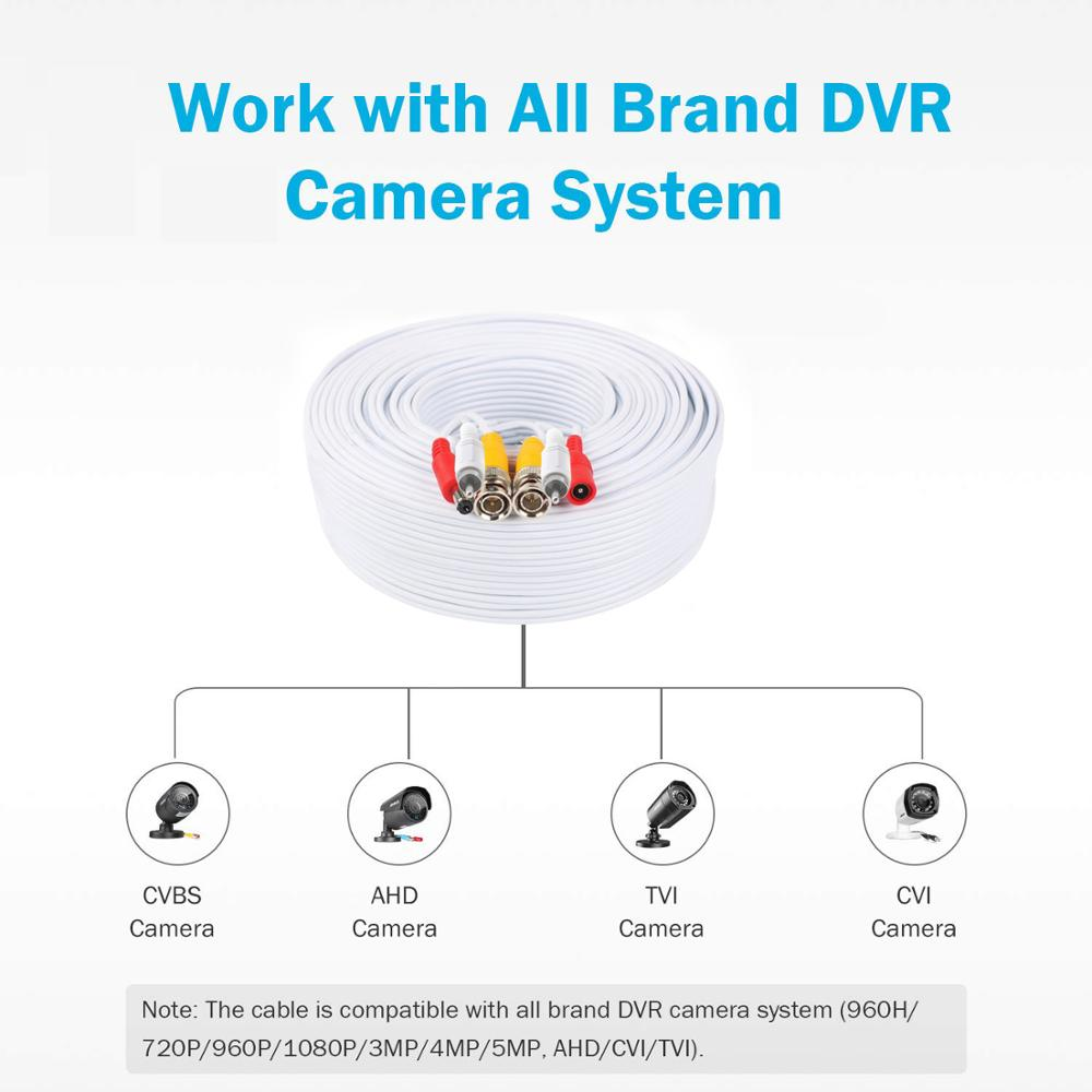 50M Security Camera Video Audio Power Cable Wire Cord for CCTV DVR Surveillance System enlarge