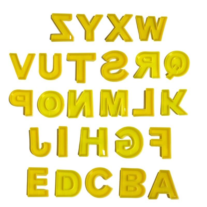 الحروف الأبجدية الحلي الايبوكسي الراتنج قالب ديكورات المنزل قالب من السيليكون لتقوم بها بنفسك الحرف مجوهرات صب أدوات R9CF