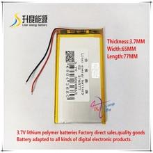 3,7 V 3000mAH 376577 Polymer lithium-ion/Li-Ion batterie für tablet pc mp3 mp4 GPS handy lautsprecher