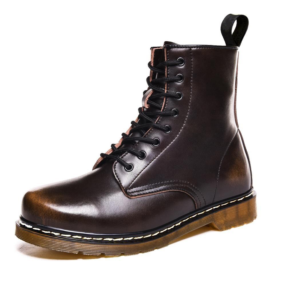 Coturno martin sapatos de couro de alta qualidade moda inverno quente sapatos de neve dr. motocicleta ankle boots casal unissex doc botas