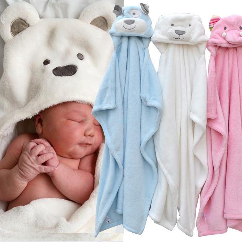 Baby Bathrobe Cute Animal Cartoon Baby Blanket Kids Hooded Bathrobe Toddler Baby Bath Towel Newborn Baby Blanket Children Towel