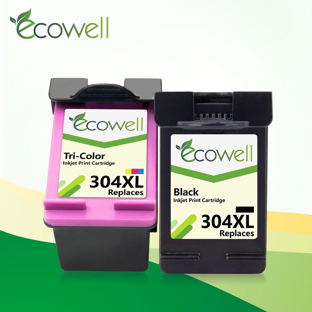 Ecowell 304XL Remanfutured cartucho de tinta para hp 304 hp 304 xl compatible para HP deskjet serie envidia 2620, 2630, 2632, 5030, 5020, 5032, 3720