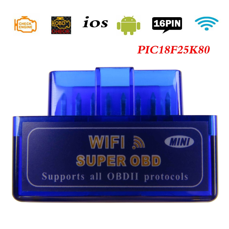 Elm-327 Obd2 Scanner Elm327 V1.5 Wifi OBD 2 Diagnostic Scanner For Car iOS OBDII ELM 327 v 1.5 Code Reader Diagnostic Tools