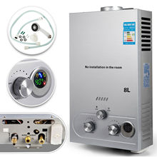 8L LPG Propane GAS Hot Water Heater Tankless Stainless Steel Instant Boiler +Shower