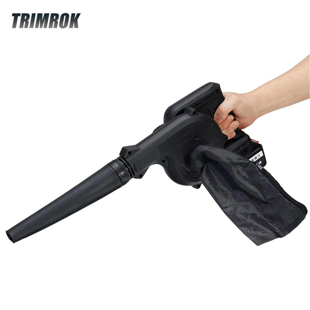 TRIMROK880W 2 In 1 Cordless Electric Air Blower Vacuum Cleannig Blower Blowing & Suction Leaf Collector For Makita 18V Battery