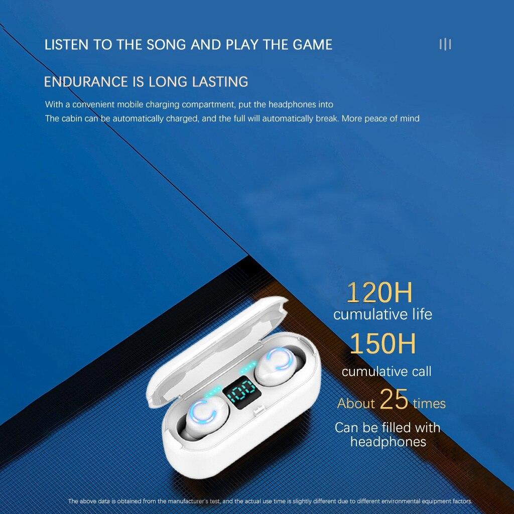 35# F9-8 Wireless Headphones M11 TWS Bluetooth 5.0 In-ear earphone Noise reduction HiFi IPX7 Waterproof Headset for sports