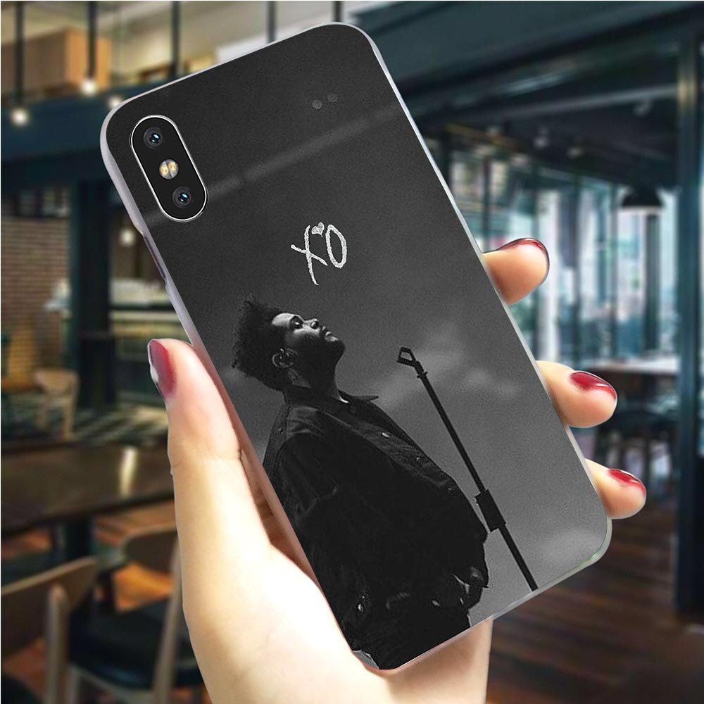 O weeknd rapper telefone capa para iphone 8 caso 7 plus xs max xr x 6 s 5S 5 se 11 pro backshell
