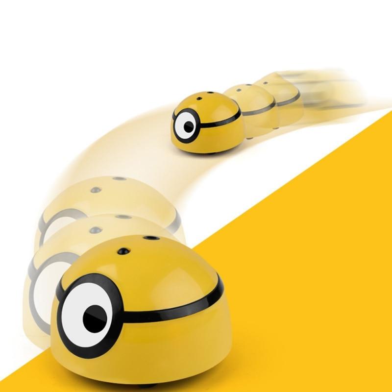 RC car Sparkling Luminous Magic LED RC Kids Infrared Idea Magic Little Yellow Man toy Fun MiniatureI