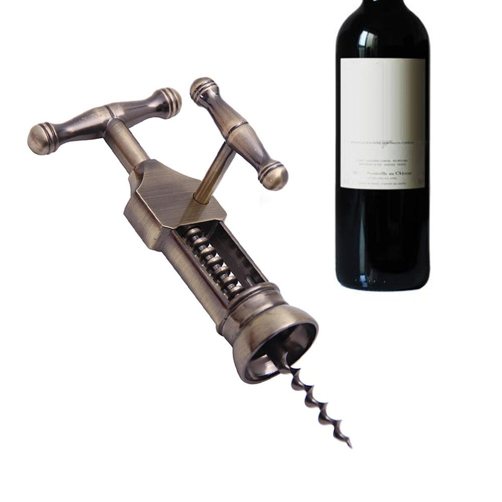 1 pieza Vintage de aleación de Zinc champán abridor de botellas de vino corcho sacacorchos para fiestas herramienta de barra abridor de botellas