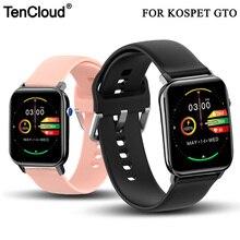 Сменный ремешок Tencloud для наручных часов Kospet GTO, браслет 20 мм, прочный силиконовый ремешок, размер S L, аксессуары для умных часов