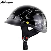 motorcycle helmet electric car capacete casco Moto moped helmet ghost head half Bike motocross casque cascos predator helmet