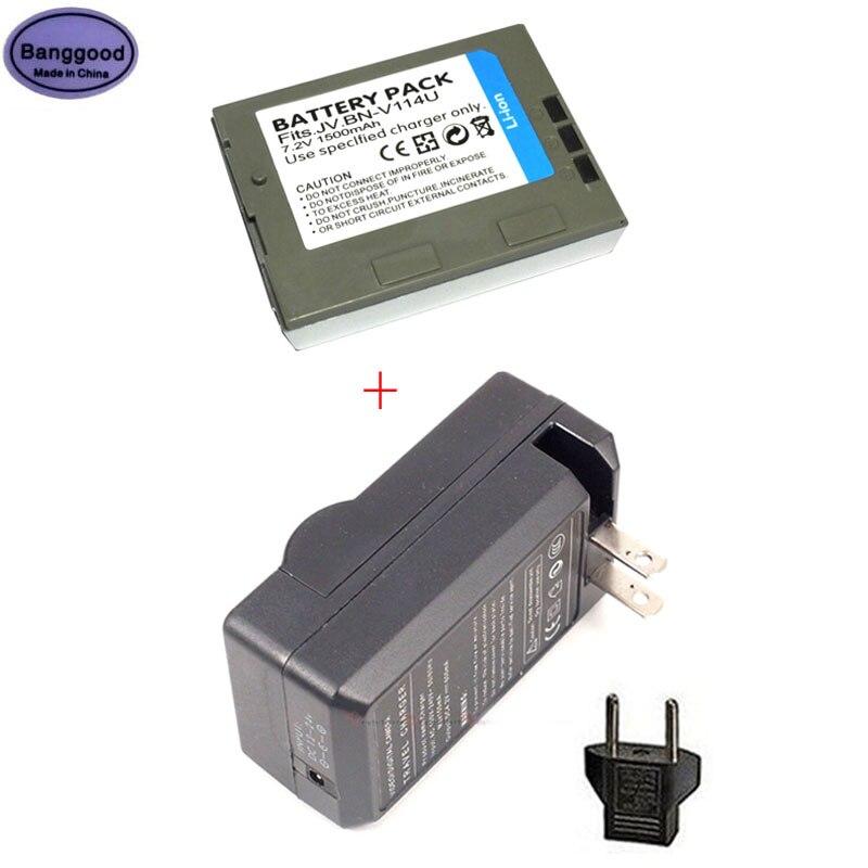 1500mAh BN-V114 BN-V114U BNV114 BNV114U Cámara batería + cargador de CA para...