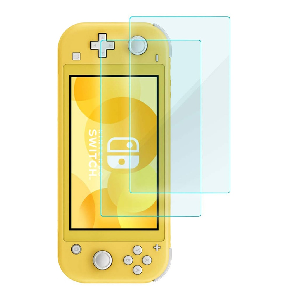 2 uds 9H Premium protector de pantalla de vidrio templado para Nintendo Switch Lite Protector de pantalla NS consola de juegos Accesorios