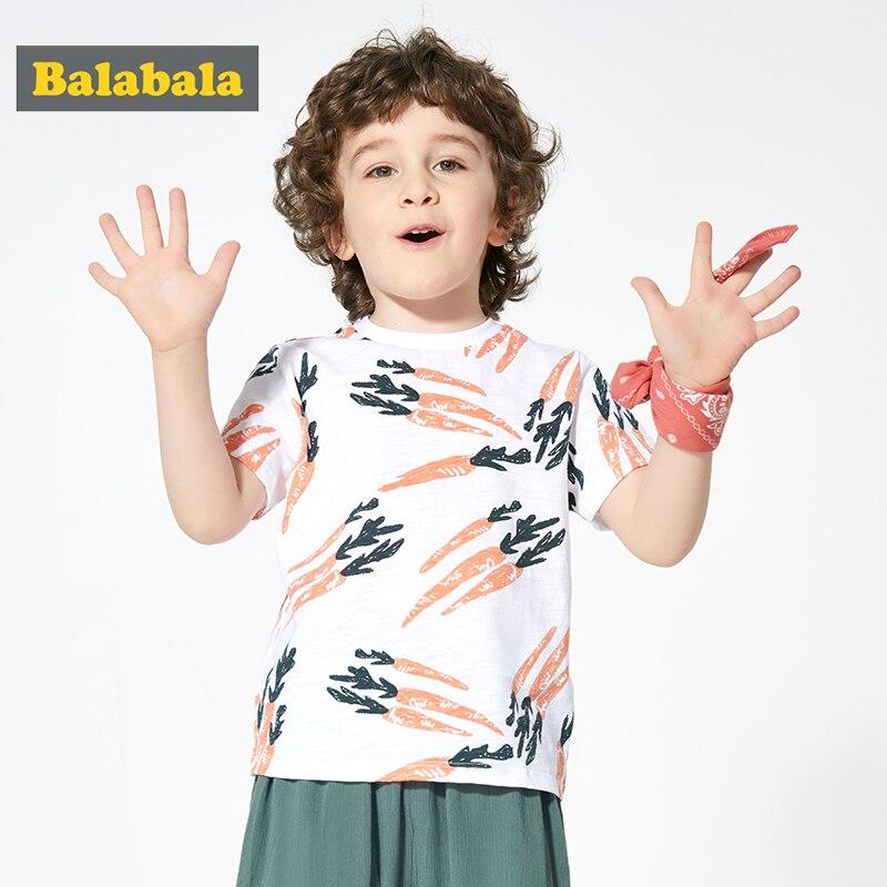 Balabala, camiseta para niños, novedad de verano 2020, para niño, manga corta, tendencia, algodón suave, transpirable, cómodo