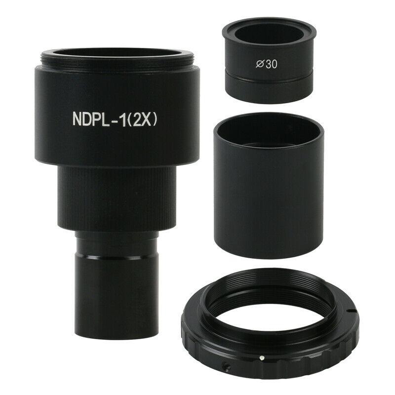 Adaptador de lente de cámara, microscopio de montaje en C, interfaz DSLR/SLR, Nikon, Canon, EOS 2X, imagen HD, cámara de marco completo, interfaz M42