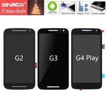 Sinbeda Echtem Für Motorola Moto G2 XT1063 XT1064 G3 XT1544 LCD Display Touchscreen Rahmen Digitizer Für Moto XT1068 2nd LCD