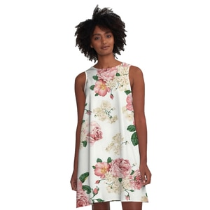 Dropshipping Women's Dress 3D Printing Vest Dress Fashion Lady's Clothing Flower A Line Skirt Sleeveless Shirt Vest Skirt Causal