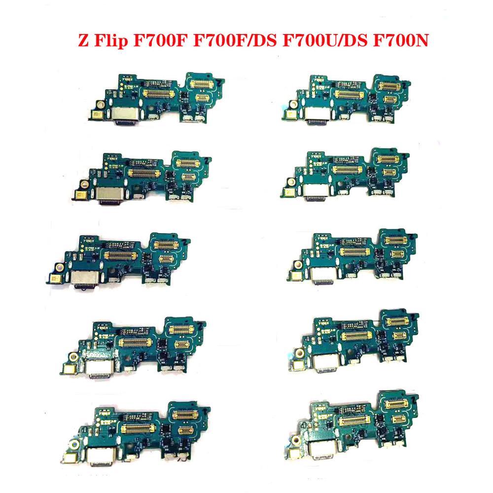 Para Samsung Galaxy Z Flip F700F F700U F700N Original cargador USB puerto de carga cinta Flex Cable conector USB Dock Junta