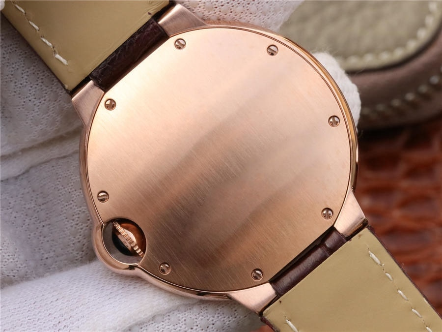 36.6 mm W6900456 Replica Ladies' Watches Automatic Mechanical Top Brand Fashion Casual Neutral Watch Brown Strap enlarge