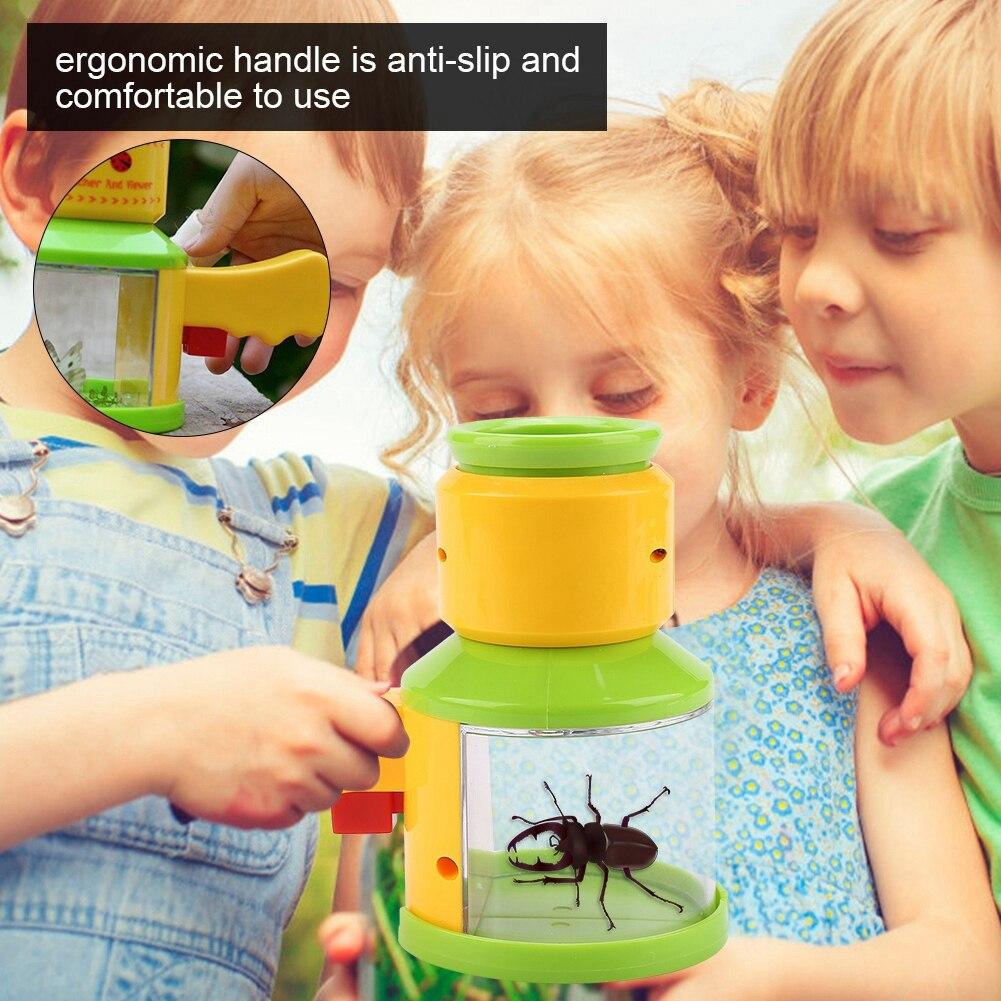 Детская Дошкольная игрушка для наблюдения за насекомыми, устройство для наблюдения за насекомыми, лупа, детский прибор для наблюдения за на...