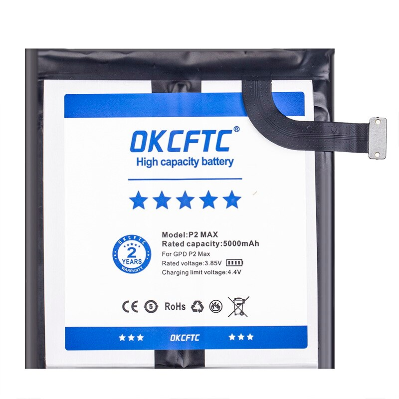 OKCFTC New 654793-2S Tablet PC battery For GPD P2 Max Handheld Gaming Laptop GamePad tablet PC 7.6V+home delivery enlarge